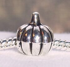 Pumpkin Squash Vegetable Garden Food Halloween Bead fits European Charm Bracelet