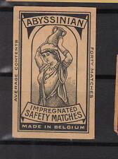 Ancienne étiquette allumettes  Belgique   A894 Porteuse d'eau