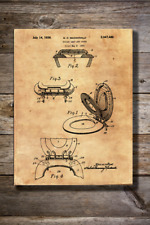 Vintage Reproduction Canvas Print of 1934 Toilet Seat and Cover Patent