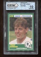 Troy Aikman RC 1989 Score #270 Dallas Cowboys HOF Rookie GEM MINT 10