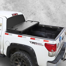 For Ford F-150 Lock Hard Solid Tri-Fold 2004-2018 5.5ft Truck Bed Tonneau Cover