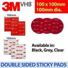 3M Double-Sided Tape 100mm x 100mm Sticky Pads (Square & Round) Extra Strong