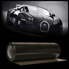"Gloss Black Light Smoke Headlight Taillight Tint Vinyl Film Cover - 12"" x 48"""