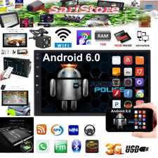 7''Android 6.0 Double 2Din Wifi -3G Autoradio Car GPS Bluetooth Stereo Player US
