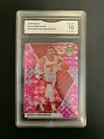 Russell Westbrook 2019-20 Mosaic Pink Camo Houston Rockets GMA 10