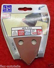 AEG,Kress Schleifpapier Dreieckschleifer 400 Korn Schleifmaschiene 105 mm LUX