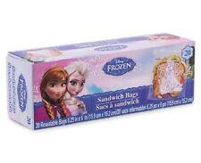 DISNEY FROZEN ANNA ELSA & OLAF LUNCH BOX SANDWICH BAGS REUSEABLE RESEALABLE