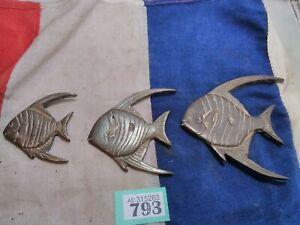 Retro Brass Fish Wall Plaques