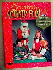 1962 Child's SANTA'S ACTIVITY FUN Book ~ Drawings by I. M. Vogel ~ Exc Cond
