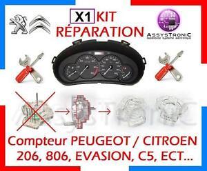 KIT RÉPARATION MOTEUR de COMPTEUR PEUGEOT 206, 806, CITROEN C5