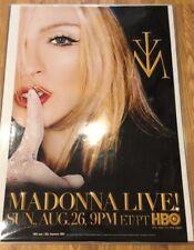 Madonna Hbo Live Theatre Poster Promo New/Rare