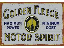 NEW Golden Fleece Motor Spirit tin metal sign