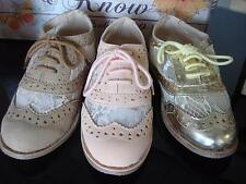 Stylish Oxford Girl's Dress Shoes with Lace Toddler to Little Kids size