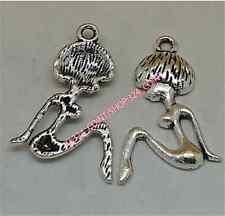 P1456 20pc Tibetan Silver GIRL Charm Beads Pendant Jewellery Making wholesale