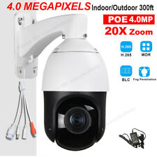 Security Outdoor H.265 POE 4MP PTZ IP Camera High Speed 20X Zoom ONVIF SD Slot