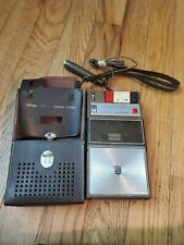 Magnavox Solid State Cartridge Recorder 2TC108M W/Case & Microphone Tested Japan