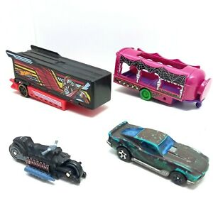 Hot Wheels Cars And Trailers - DC Comics Motorbike Transformers Trailer And More