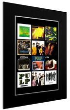 More details for mounted / framed print pulp 12 albulm discography - 3 sizes poster gift artwork