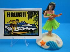 "SOLAR DANCING HULA GIRL TOY  &  HAWAII STICKER / DECAL...""L@@K""  FREE SHIPPING !"