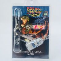 BACK TO THE FUTURE De Lorean Charm Strap & Postcard  UNIVERSAL STUDIOS JAPAN
