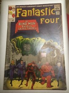 Fantastic Four 39 Silver Age Cents Copy NM But For Staining, Chipping so Fine+