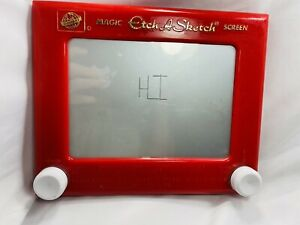 Vintage Etch A Sketch No. 505 Ohio Art Company Magic Screen Red Frame Toy Works