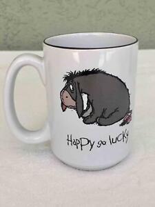 "Walt Disney World Eeyore ""Happy Go Lucky"" Coffee Mug Cup - Winnie Pooh & Friends"