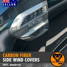 CARBON FIBRE SIDE WIND COVER VENT FITS FORD RANGER PX PX2 2015 - 2019 EVEREST