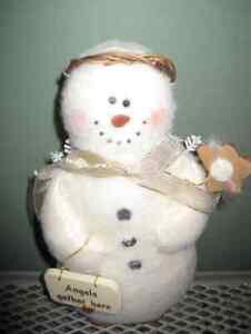Snowman Angel - snow angel decoration