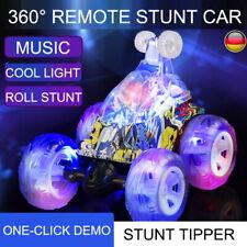 360°Ferngesteuertes RC Stunt Auto Rennauto mit Musik & LED Licht Wiederaufladbar