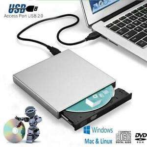 External DVD CD ROM Disc Drive Laptop PC USB Drive Player Slim for PC Laptop New