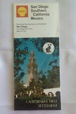 1968 Shell San Diego Southern California Mexico Map
