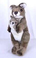"Plush Kangaroo and Joey Baby Appx 12"" Tall  K & M International"