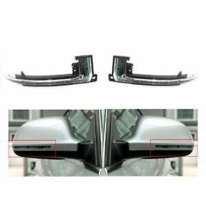 Pair Dynamic LED Side Wing Mirror Turn Signal Light For AUDI A4 S4 A5 S5 10-15