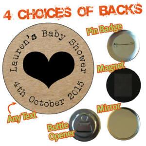 BABY SHOWER Personalised Craft Badge Mirror Fridge Magnet Christening Gift 344