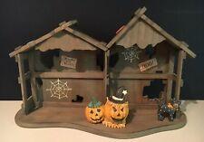 Enesco Calico Kittens Halloween House Displayer 1994 #655562 Vguc