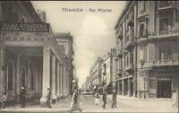 Alexandria Egypt Rue Attarine Street Scene c1915 Postcard
