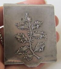 Antico portabiglietti - oggetto da vetrina! Liberty - primi '900 - Agrifoglio