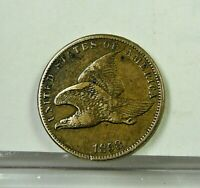1858 , Flying Eagle 1 Cent. Not Cleaned, VF small letters