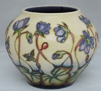 Moorcroft Hepatica Vase  402/4 - signed in gold to base - 12cm tall