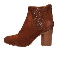 scarpe donna MOMA 37 EU stivaletti marrone camoscio AE649