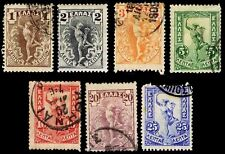 1906 GREECE #165-71 GIOVANNI'S HERMES - USED - FINE+ - COURTESY LISTING (E#2654)