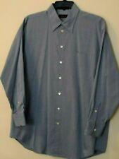 Claiborne Mens L/S Blue Cotton Button Down Dress Shirt - Size 17/32-33 or XL