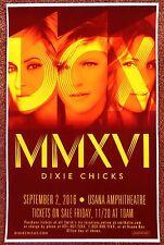 DIXIE CHICKS 2016 Gig POSTER Utah Concert