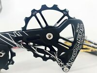 Fouriers Ceramics Rear Derailleur Cage Pulley Jockey For R8000 Dura Ace 9100 Blk