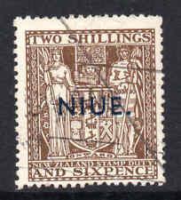 Niue 1941 KGVI 2/6d Postal Fiscal wmk single NZ star w43 SG 79 used CV £120