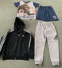 Boys Bundle Of Clothes Age 7-8 Years Adidas Jogging Bottoms Hoody Pyjamas Pets
