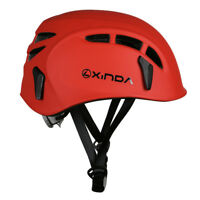 Safety Helmet Rock Tree Climbing Caving Rescue Head Protector Red