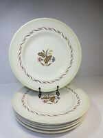 "6x Vintage Royal Doulton Woodland D6338 Side Dinner Plates 8.5"""