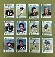 1973 TOPPS FOOTBALL OAKLAND RAIDERS TEAM SET LOT EX/NM 17 CARDS WITH 5 HOFers
